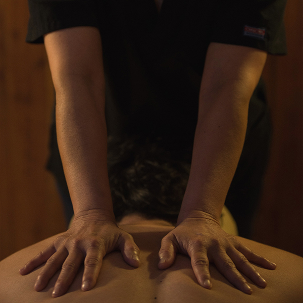 Back and craniocervical massage